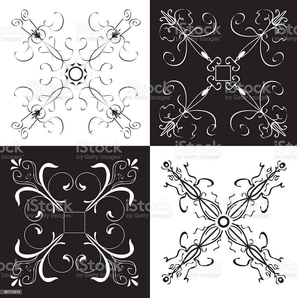 Scroll Designs royalty-free stock vector art