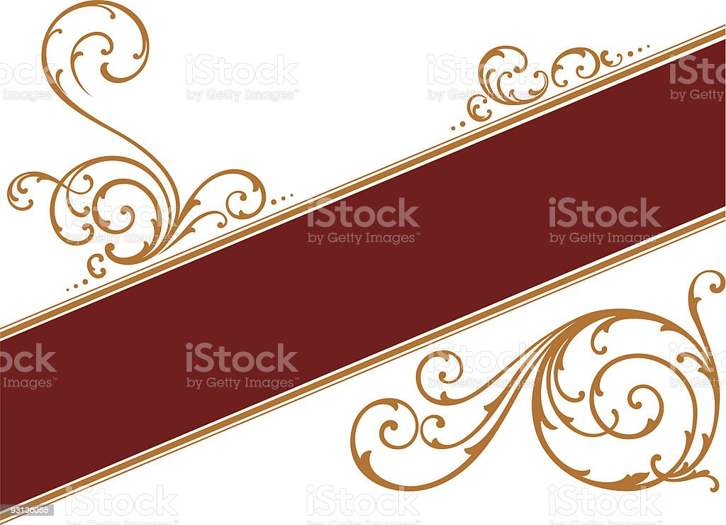 Scroll Label Design royalty-free stock vector art