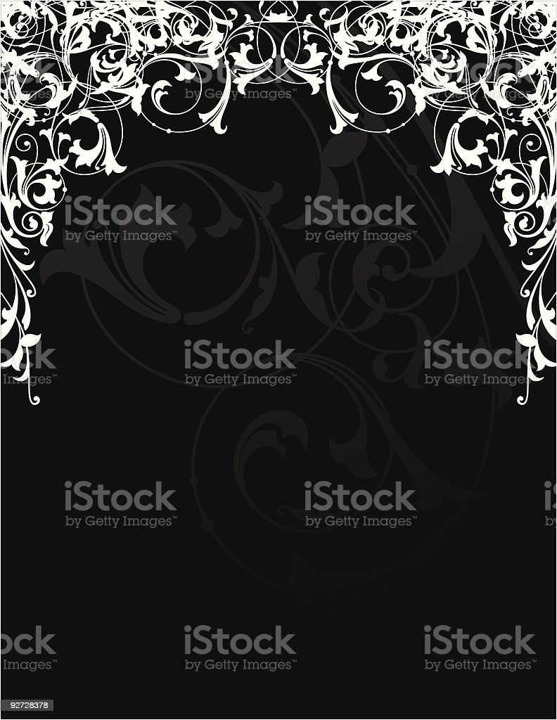 Scrolled Frame Design (Vector) vector art illustration