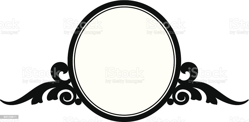 Scroll-Oval 11105 (vector) royalty-free scrolloval 11105 stock vector art & more images of art nouveau
