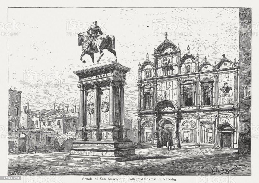Ilustración de Scuola Grande Di San Marco Y Monumento De Colleoni ...