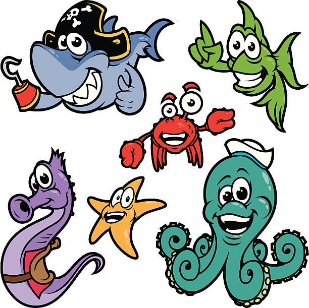 meer tiere farbe - haifischköder stock-grafiken, -clipart, -cartoons und -symbole