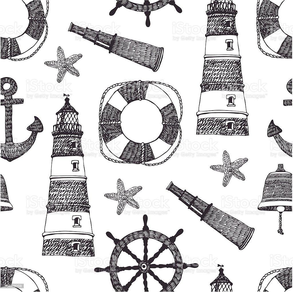 Sea black pattern royalty-free stock vector art