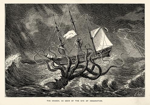 Sea monster - Kraken Seen by the Eye of Imagination
