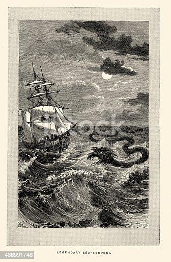istock Sea monster - Sea-serpent 468591746