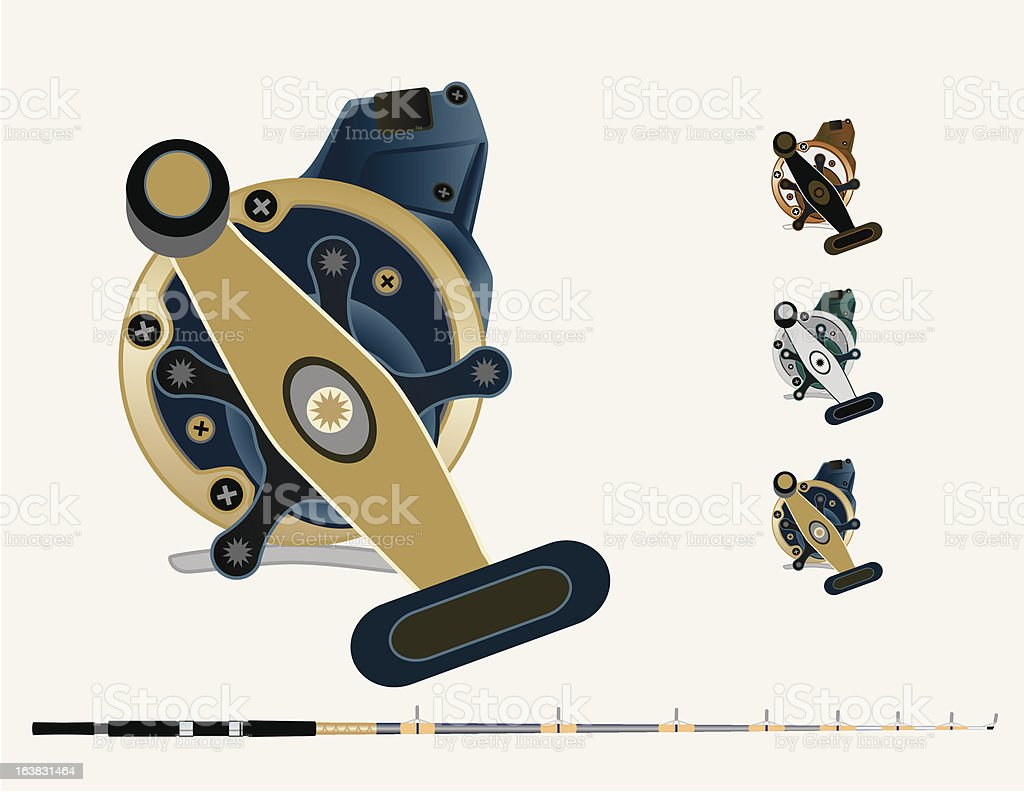 Sea Reel and Rod royalty-free sea reel and rod stock vector art & more images of fishing reel