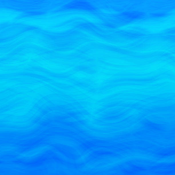 Sea Wave Background Blue Water  Summer Pattern Blue Azure Background Sea Wave Water Pattern Abstract summer wavy ocean design template for holiday card, banner, brochure, presentation, poster, flyer, party invitation, advertisement, wallpaper website pool party stock illustrations