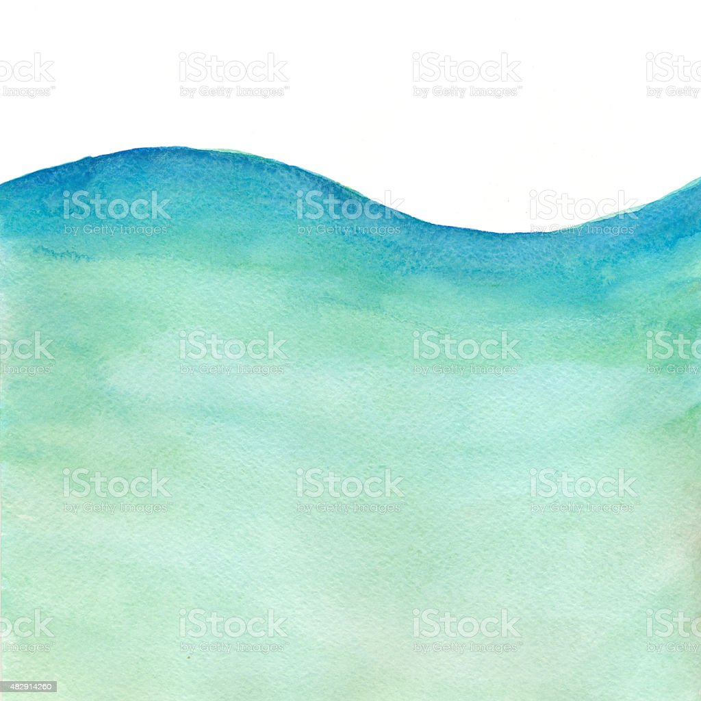 Meer Welle-Aquarell Hintergrund – Vektorgrafik