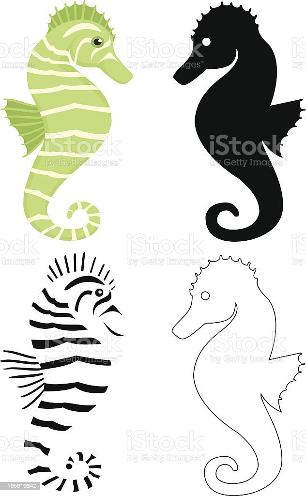 seahorse royalty-free stock vector art