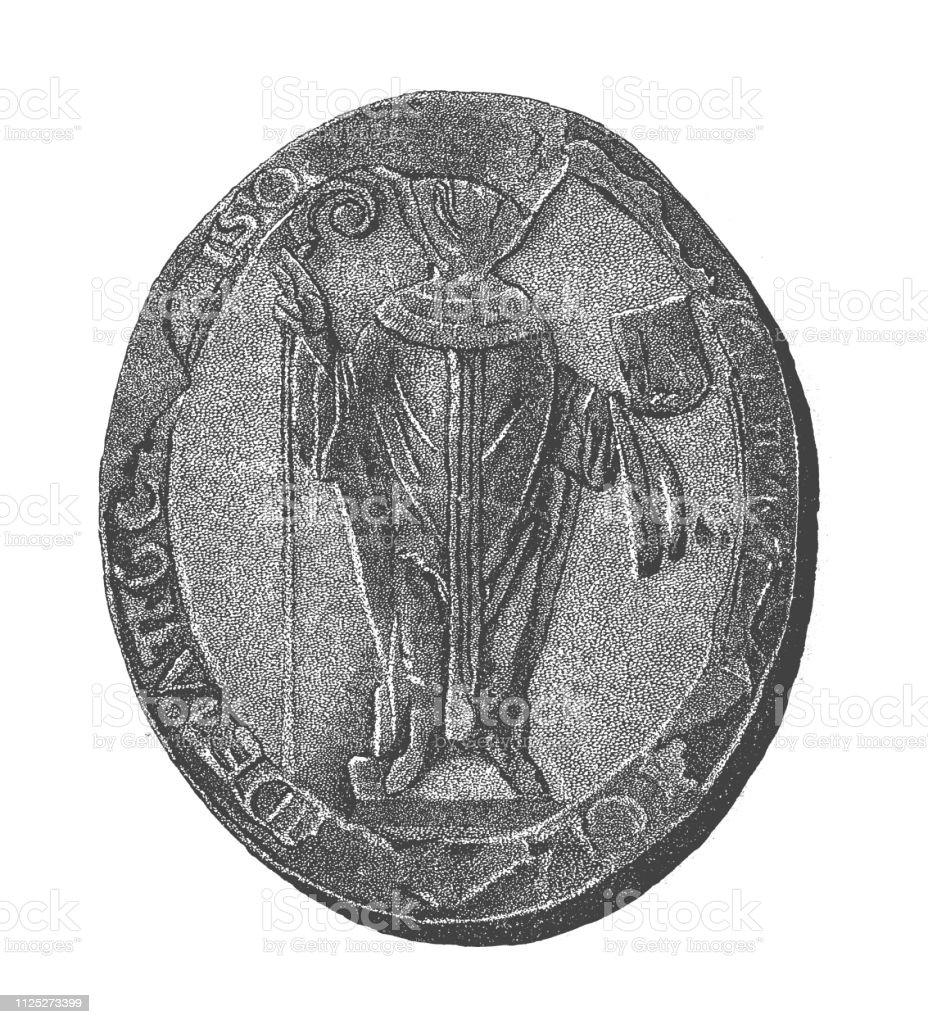 Zegel Van De Aartsbisschop Van Canterbury Anselm