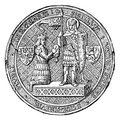Seal of the University of Prague ,1384