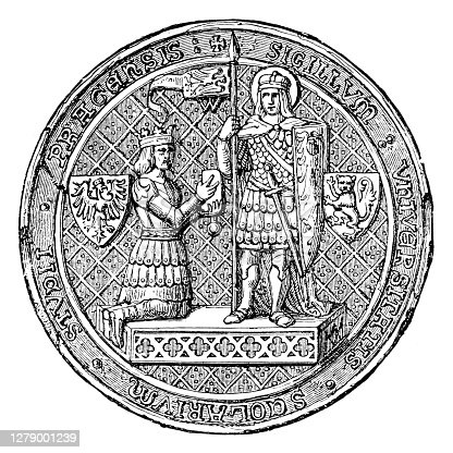 istock Seal of the University of Prague ,1384 1279001239