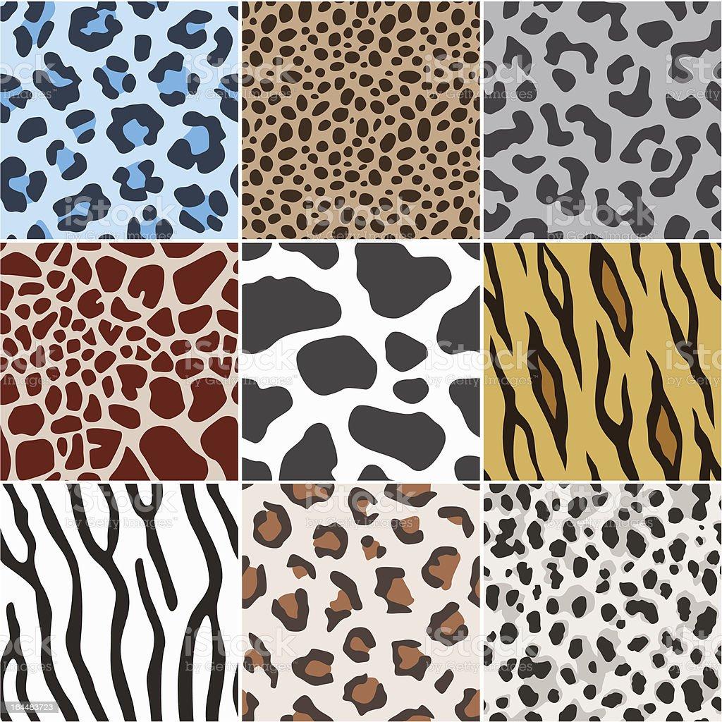 seamless animal skin texture pattern vector art illustration
