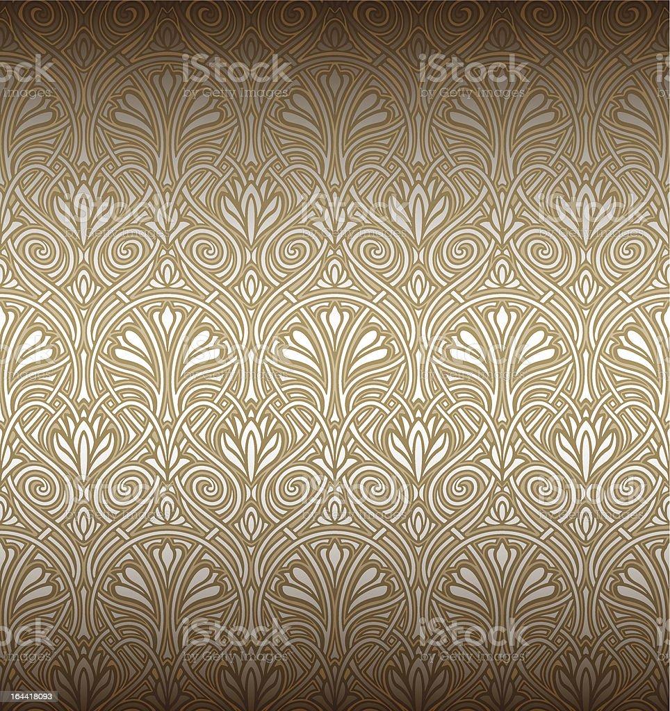 Seamless Art Nouveau pattern vector art illustration