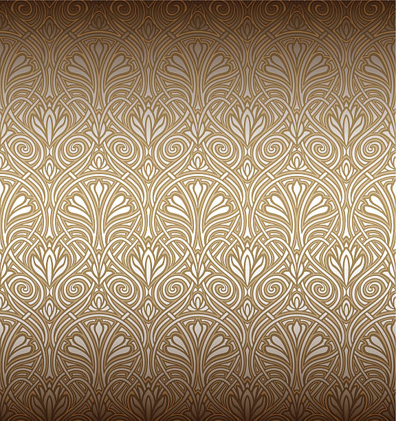 Seamless Art Nouveau pattern vector art illustration