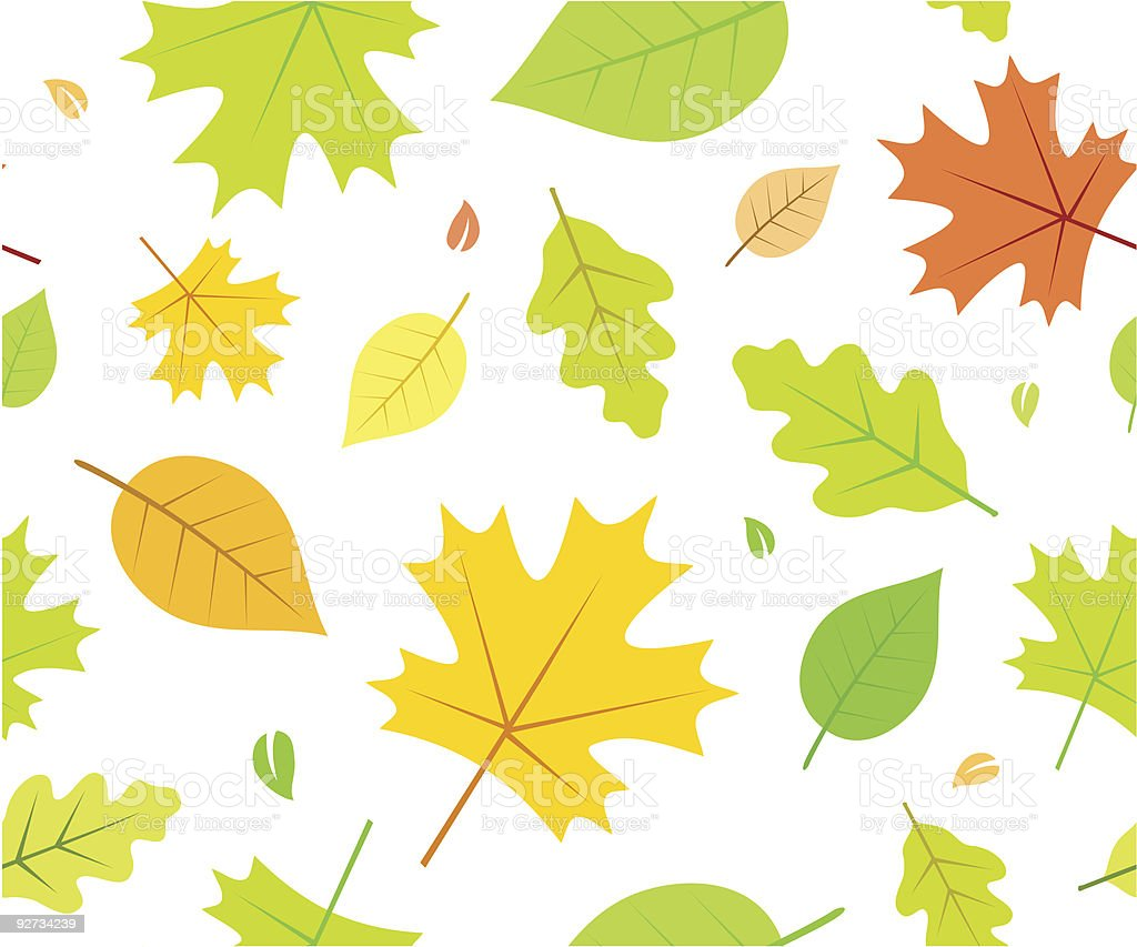 Seamless Autumn Pattern with Leaves royalty-free stock vector art