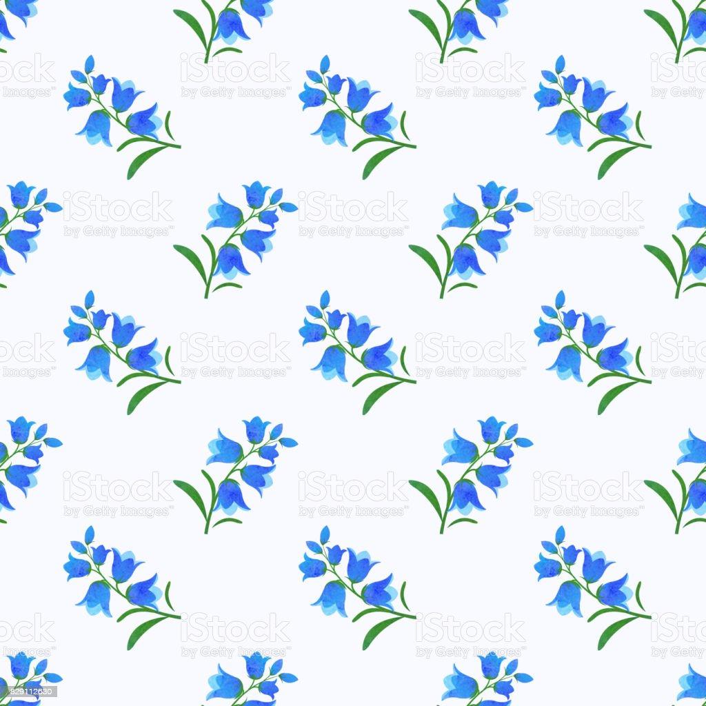 Sorunsuz Arka Plan Görüntü Renkli Sulu Boya Doku Botanik çiçek