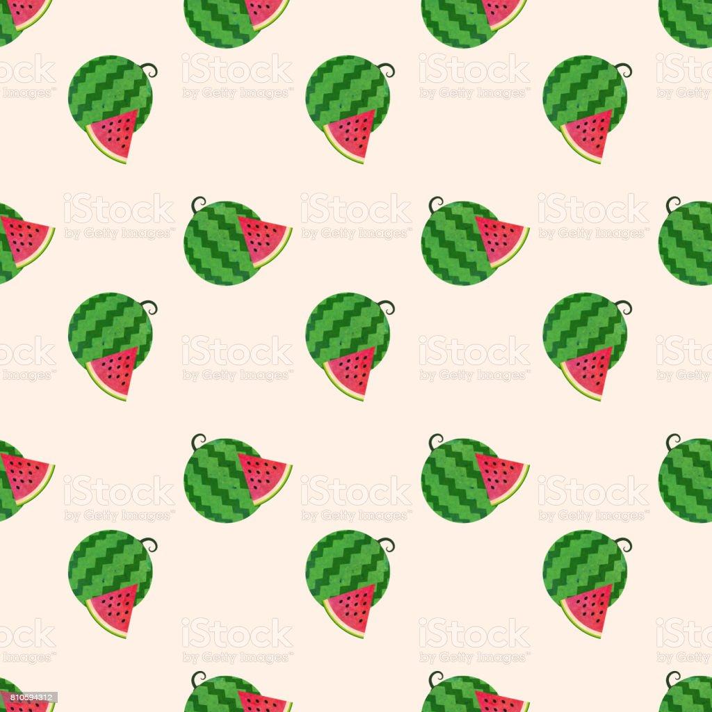 Sorunsuz Arka Plan Görüntü Renkli Sulu Boya Doku Tropikal Meyve