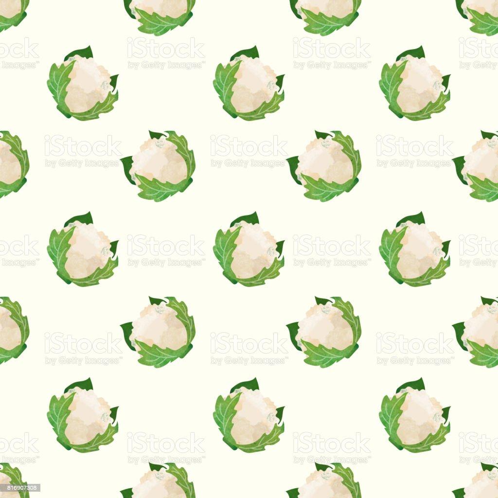 Sorunsuz Arka Plan Görüntü Renkli Sulu Boya Doku Sebze Gıda Madde