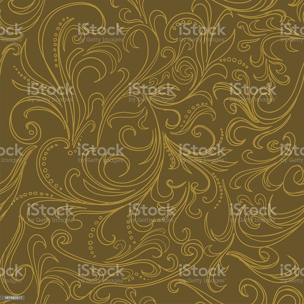 Seamless background -Ornate swirling royalty-free stock vector art