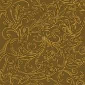 Ornate swirling in seamless pattern. High resolution jpg file included.