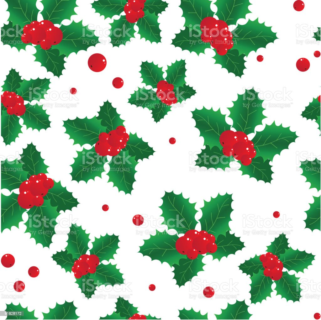 Seamless Background With Red Berries Stock Vector Art & More Images ...