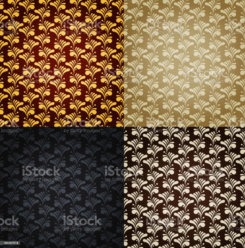 Seamless backgrounds set royalty-free stock vector art