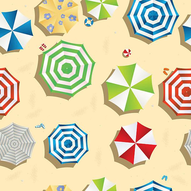 Seamless beach pattern vector art illustration