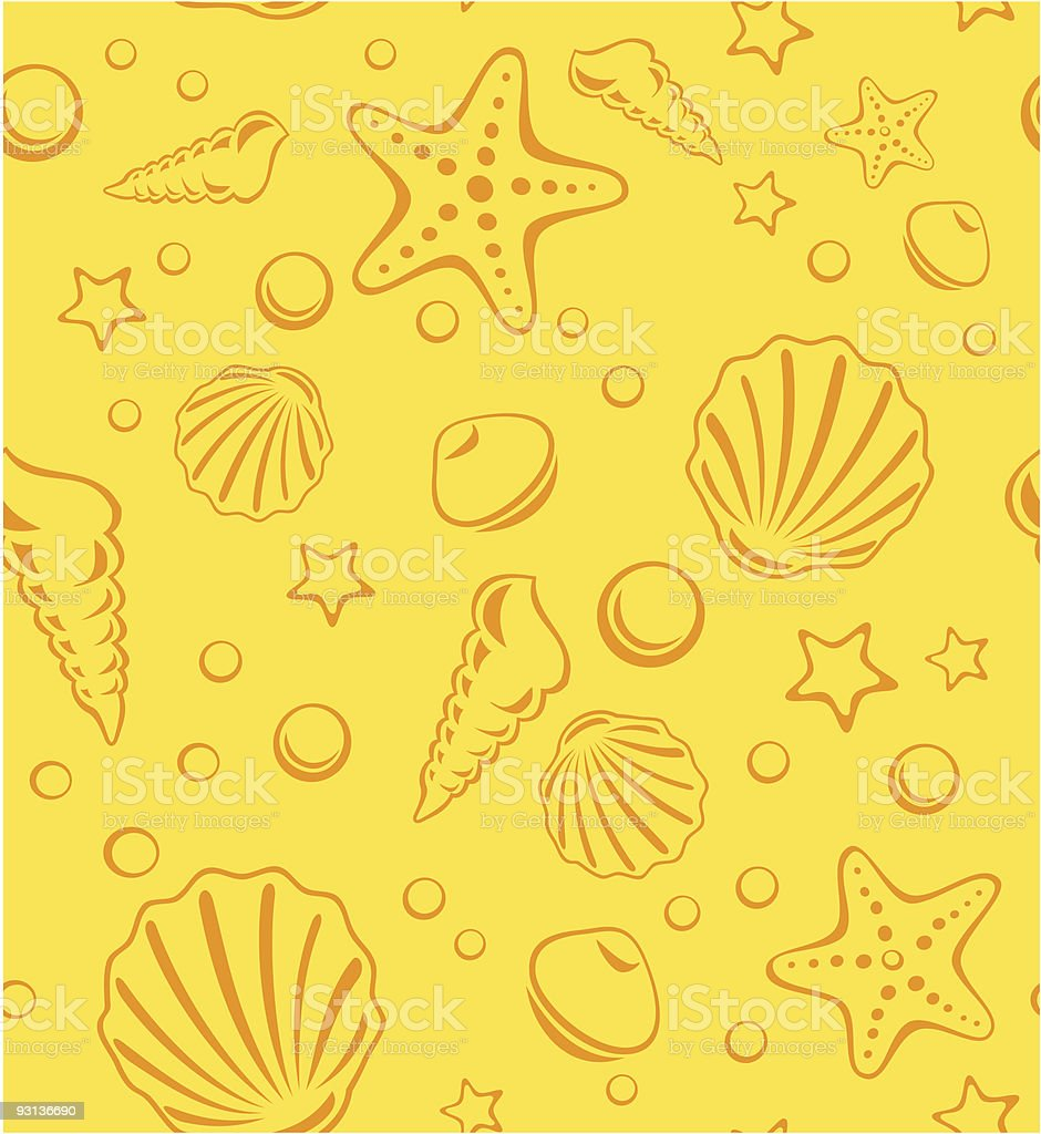 Seamless Beach Vector Pattern vector art illustration