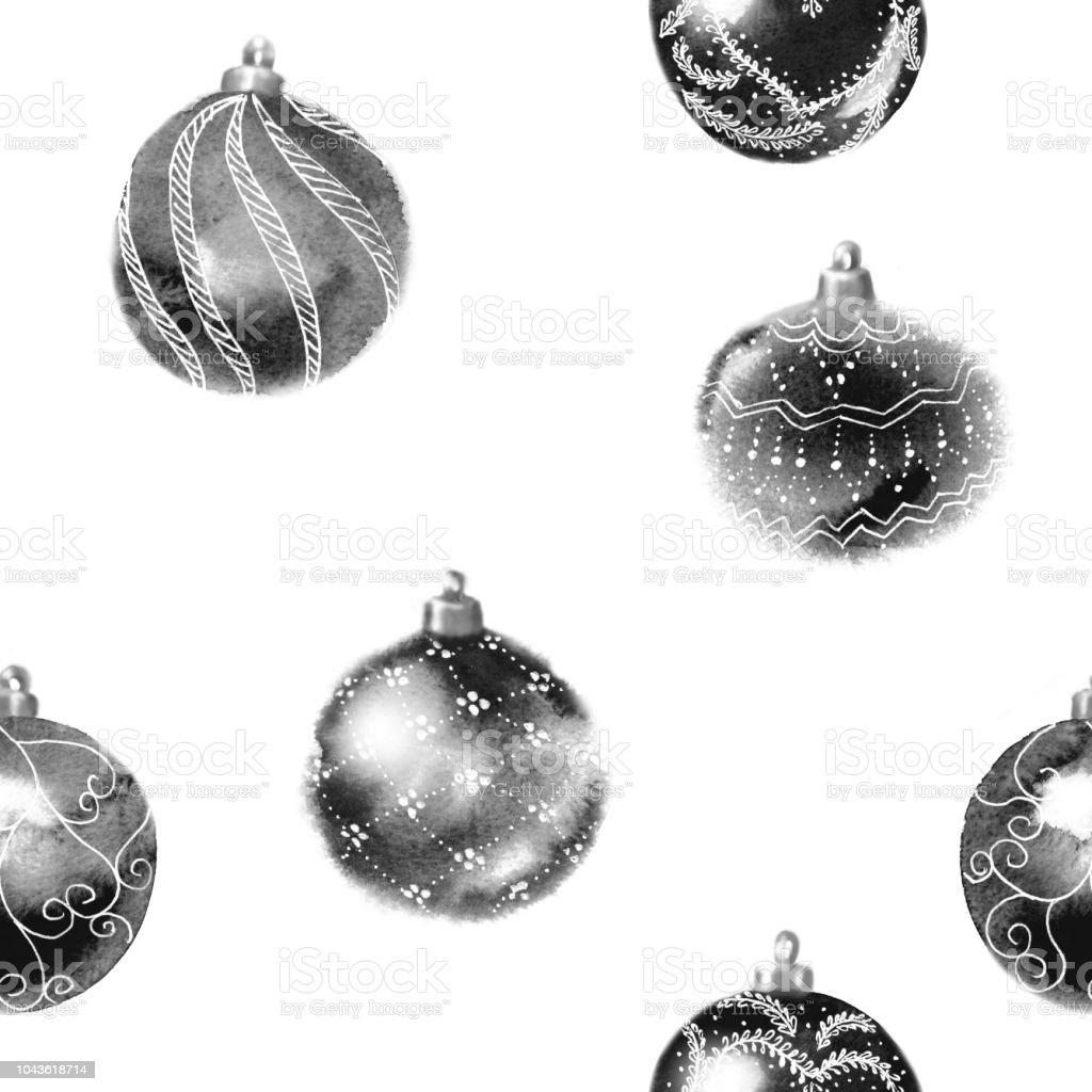Schwarz Weiße Christbaumkugeln.Schwarze Und Weiße Musterdesign Aus Glänzenden Christbaumkugeln Mit