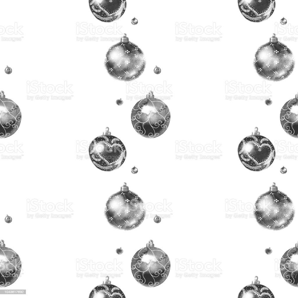 Christbaumkugeln Gestreift.Nahtlose Schwarze Und Weisse Streifenmuster Aus Glanzenden