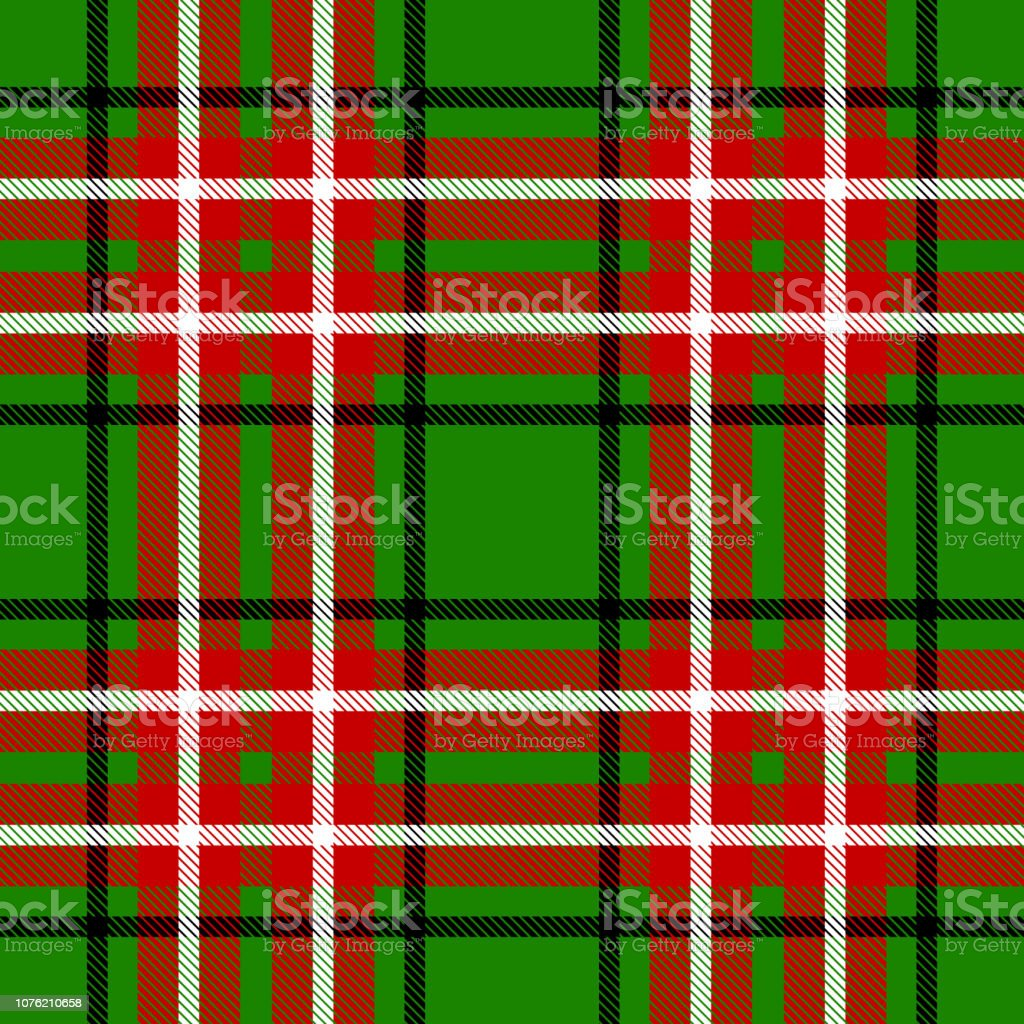 seamless christmas check pattern black whte green and red design for illustration id1076210658