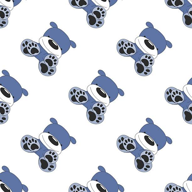 원활한 다이아고날 경견 패턴을 인명별 - 강아지 실루엣 stock illustrations