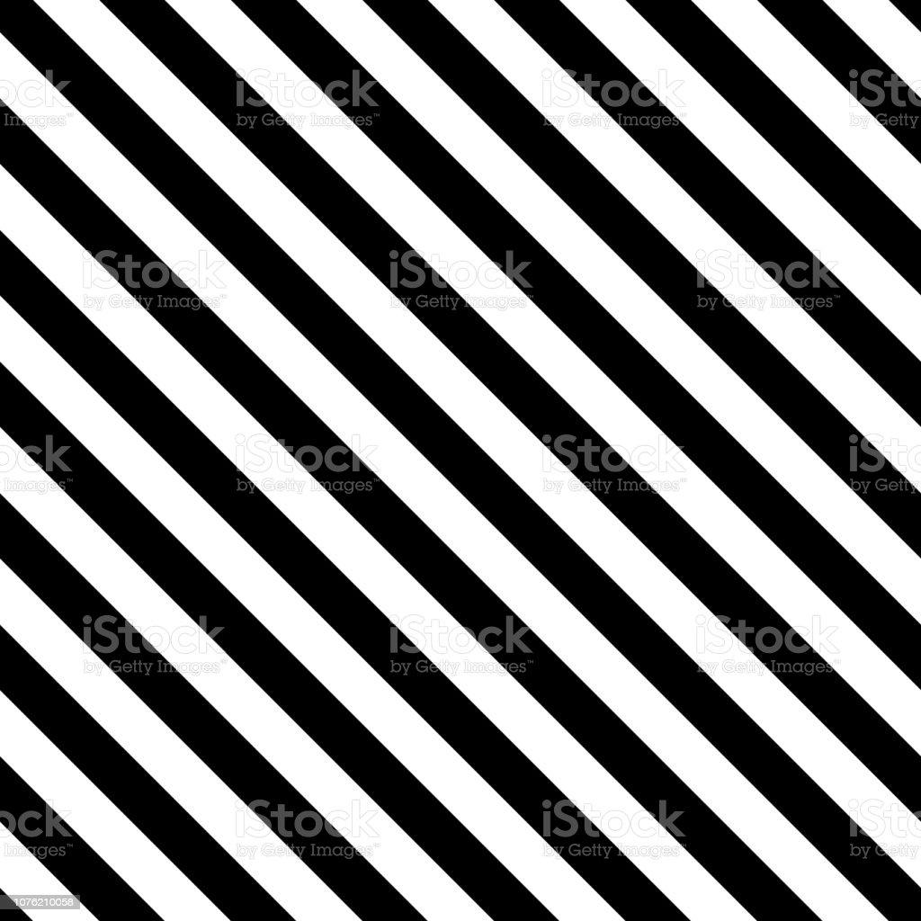 Vetores De Padrao De Listra Diagonal Sem Costura Preto E Branco