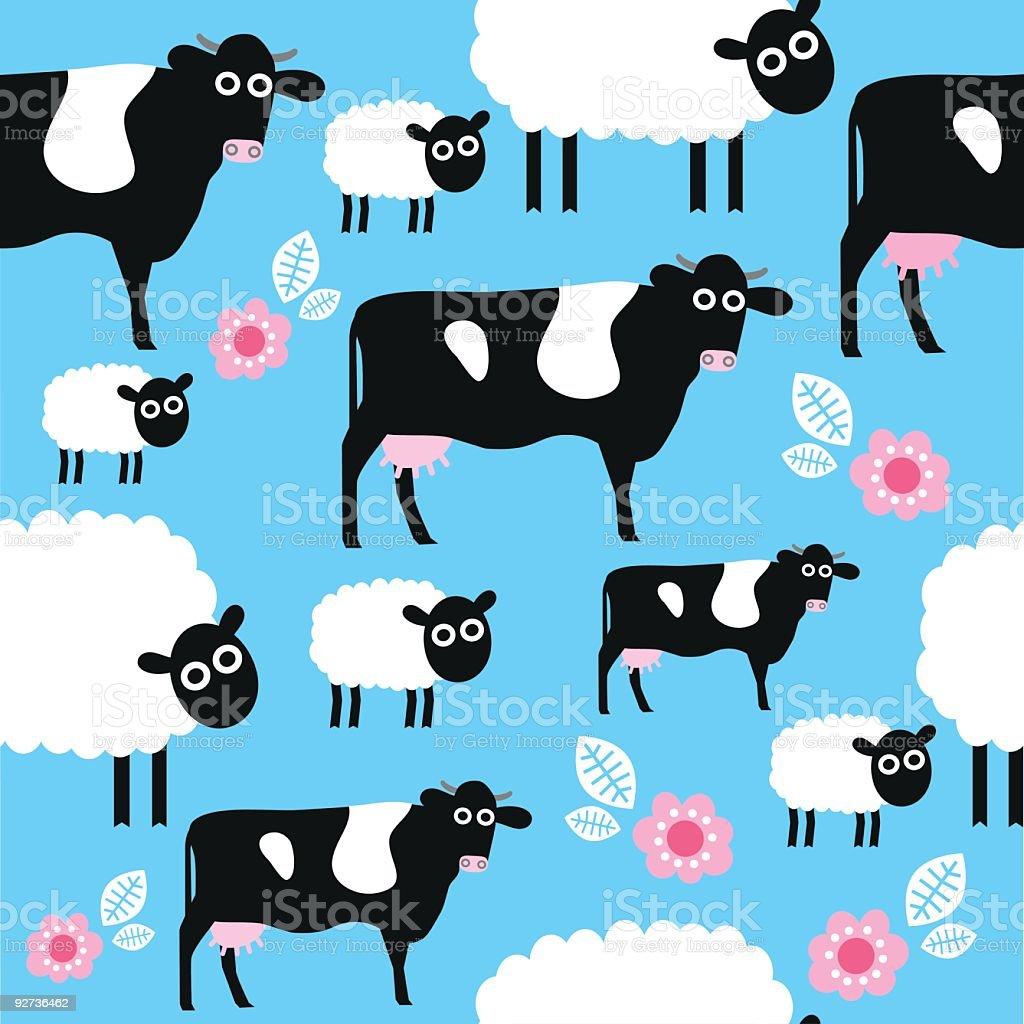 Nahtlose Tier Muster farmyard Lizenzfreies nahtlose tier muster farmyard stock vektor art und mehr bilder von agrarbetrieb