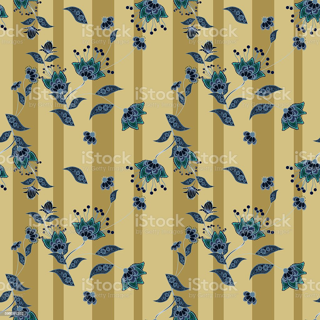 Seamless floral pattern background, flowers ornament wallpaper I royalty-free seamless floral pattern background flowers ornament wallpaper i stock vector art & more images of abstract