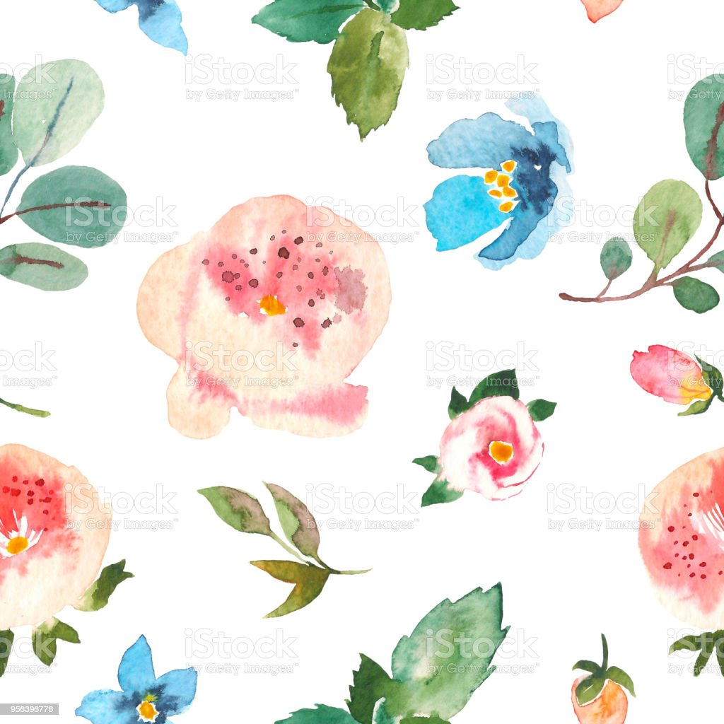 Seamless Floral Pattern For Textiles Packaging Wallpaper Covers