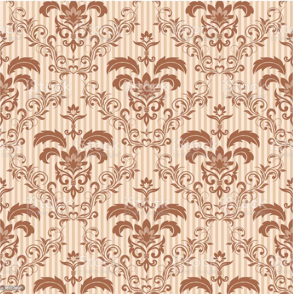 Seamless floral wallpaper vector art illustration