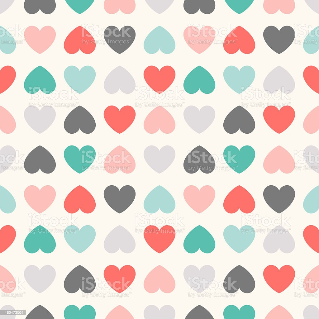 Seamless geometric pattern with hearts.  illustration vector art illustration