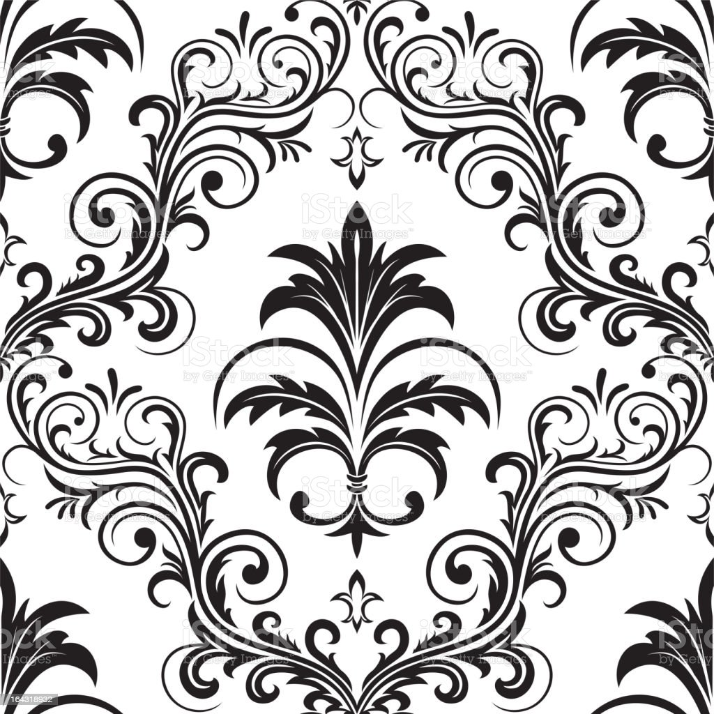Seamless Gothic Wallpaper Royalty Free Stock Vector Art Amp More Images