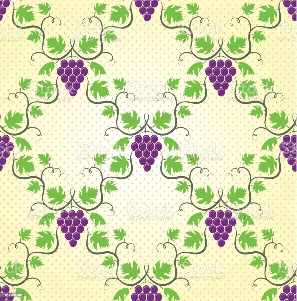 Seamless grape pattern royalty-free stock vector art
