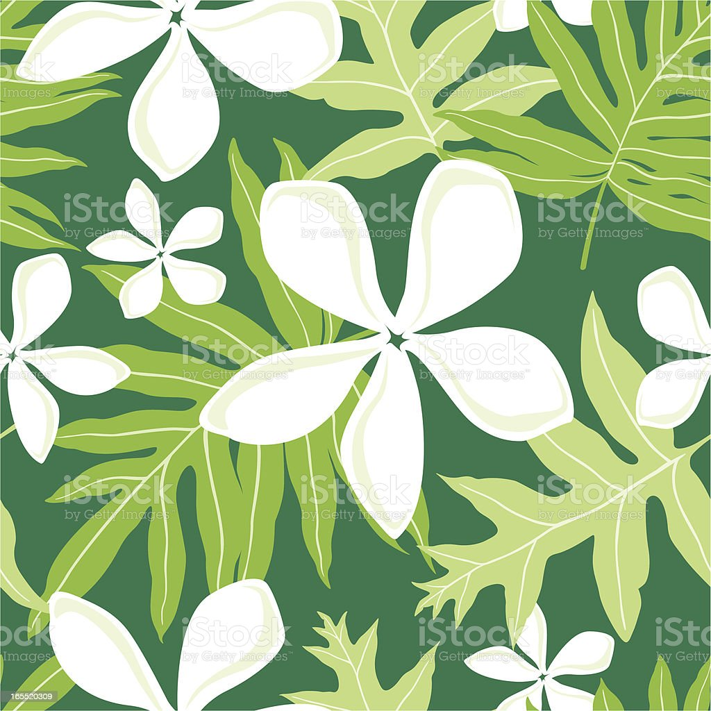 Seamless Hawaiian Fern (Lauae) Pattern royalty-free seamless hawaiian fern pattern stock vector art & more images of backgrounds