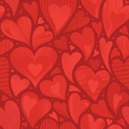 Seamless heart textured background
