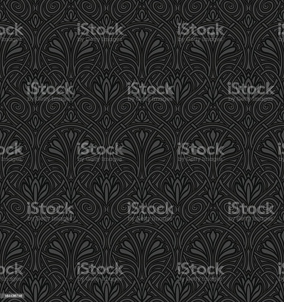 Seamless Jugendstil wallpaper royalty-free stock vector art