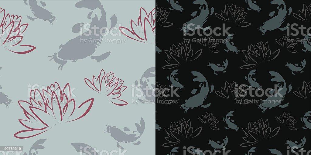 Seamless Koi Lotus Wallpaper Pattern Stock Vector Art More