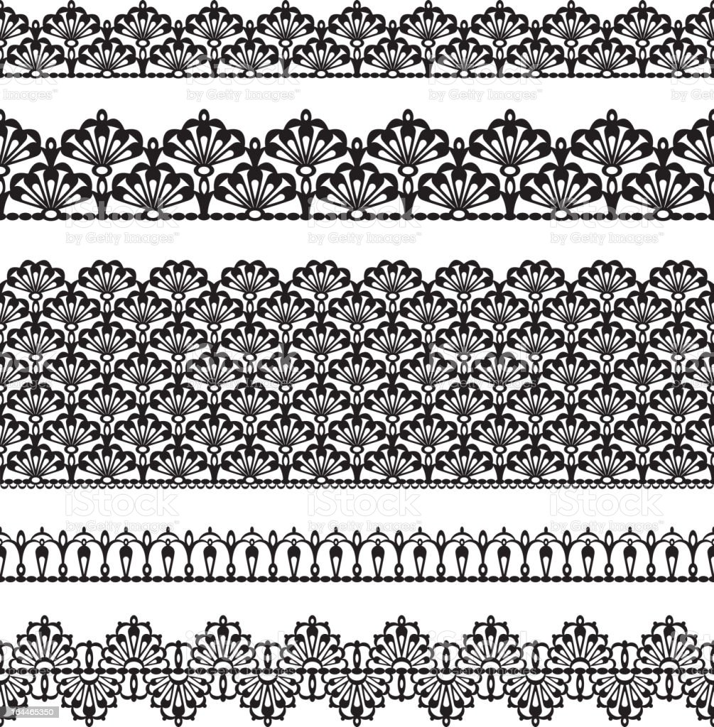 Seamless lace set royalty-free stock vector art