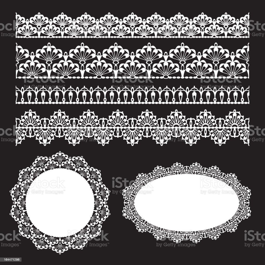 Seamless lace set royalty-free seamless lace set stock vector art & more images of abstract