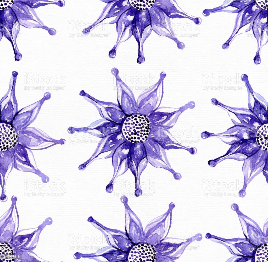 Seamless large pattern with exotic flower in blue and purple stock seamless large pattern with exotic flower in blue and purple royalty free seamless large pattern izmirmasajfo