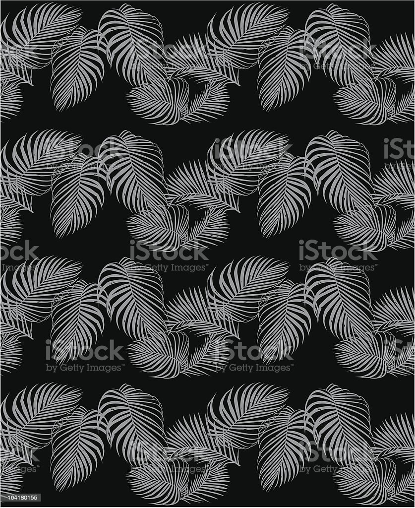 Seamless Leafy Palm Wallpaper Pattern Stock Vector Art