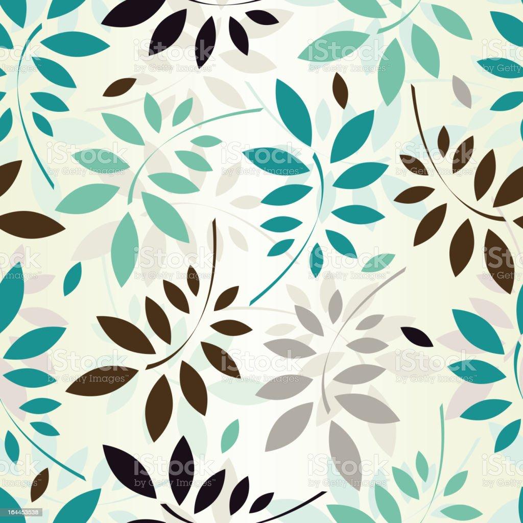 seamless leaves wallpaper royalty-free stock vector art